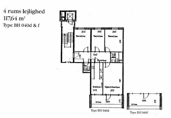 lejlighed byttes, 2200, Korsgade 9 4. sal 117 m2