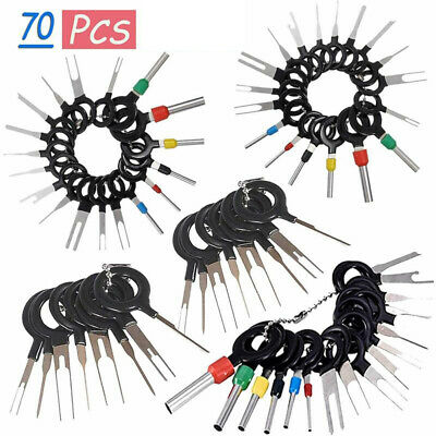 Auto Terminal Removal Connector Tool Key Extractor Tool Pin Extraction Tool Kit for Depinning Crimp Wire Connectors 39 Pcs Terminal Ejector Kit