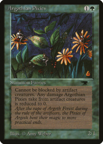 Argothian Pixies Antiquities MINT Green Common MAGIC GATHERING CARD ABUGames