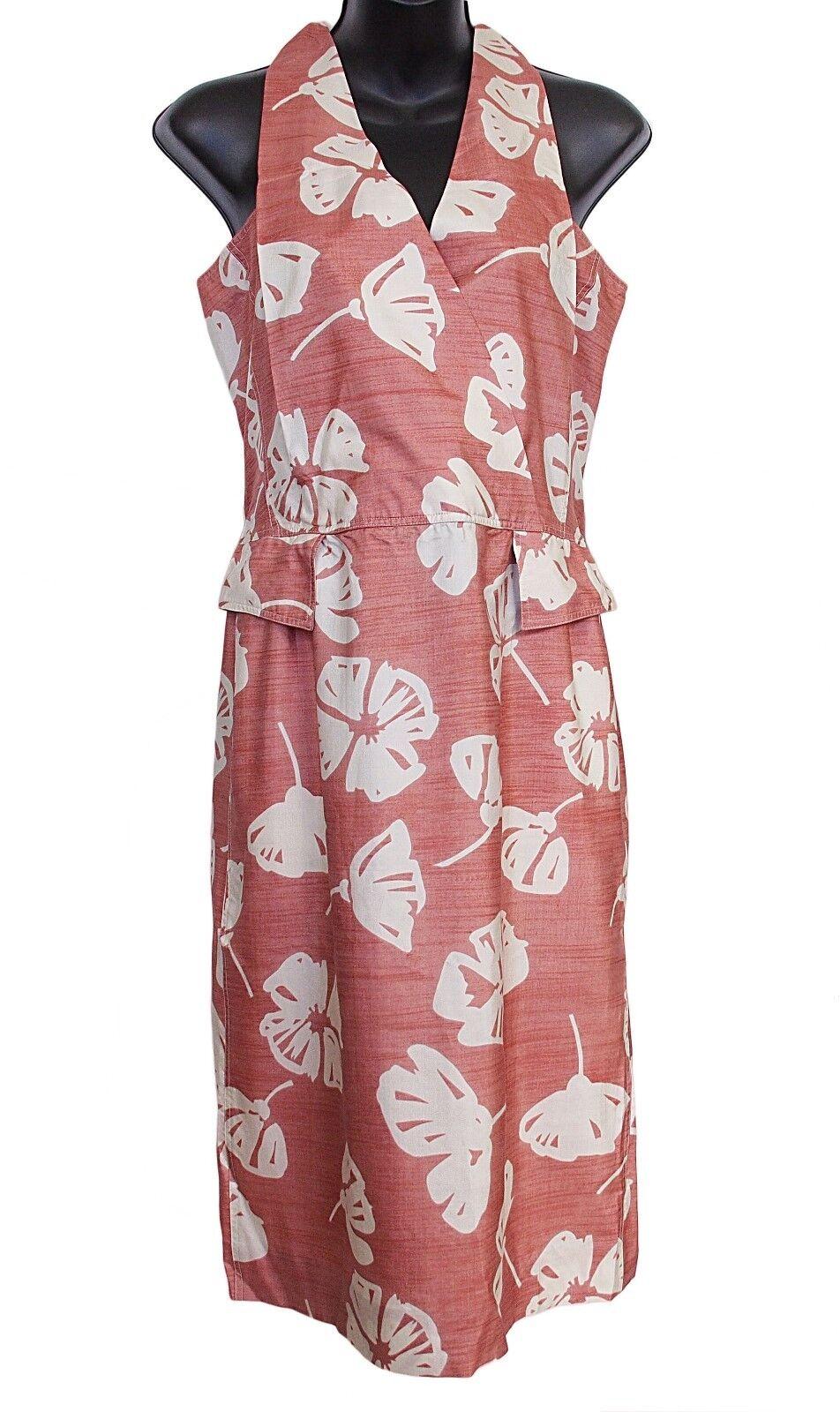 COURREGES Paris Dress 100% Silk Sleeveless Sleeveless Sleeveless Flower Print Size FR 38 US 6 8b73d1