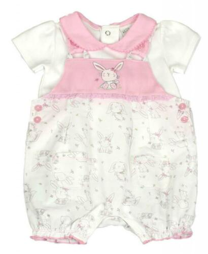 New Baby Girls Dungarees Top Spanish Occasion Designer 0-3 3-6 6-9 Months BNWT
