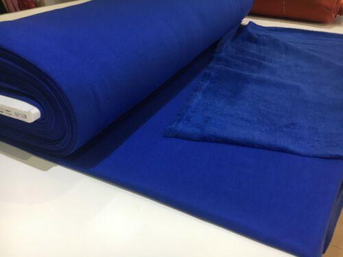 0,50m sweatstoff azul Sweat tela br.165cm Fleece Ökotex wintersweat sustancias kt32
