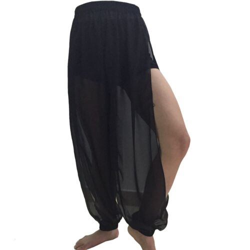 Chiffon Slit Harem Yoga Pant Belly Costume Tribal PANTALON Dance size XS-XL