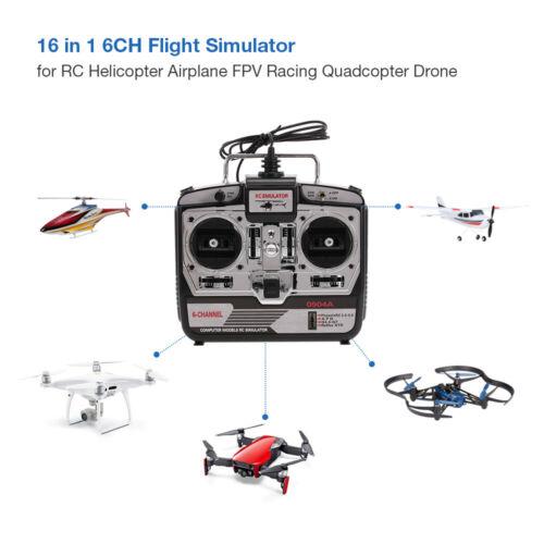 6CH USB Flugsimulator Emulator für RC Hubschrauber Flugzeug Racing Drone B5T0