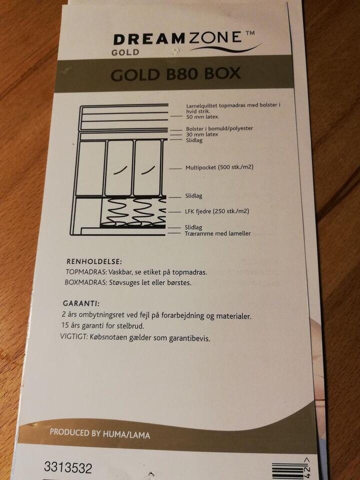 Boxmadras, Dreamzone gold B80, b: 90 l: 200 h: 25