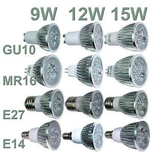Ultra-Bright-CREE-MR16-GU10-E27-E14-9W-12W-15W-Dimmable-LED-Spotlight-Bulbs