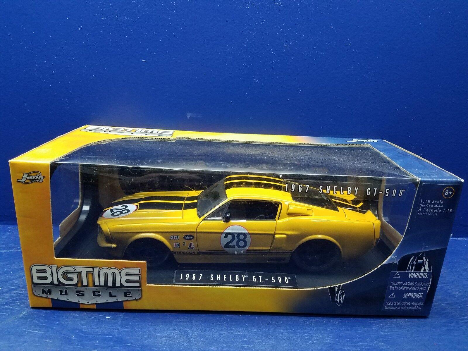 1 18 Scale Die Cast grave Muscle 1967 Shelby GT-500  28 jaune avec Dirt 90324
