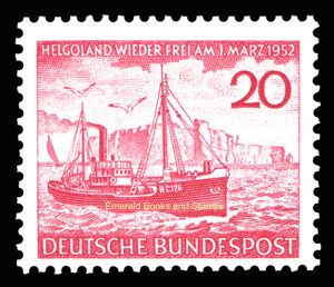 EBS-Germany-1952-Heligoland-German-again-Fisheries-Michel-152-MNH-cv-24-00