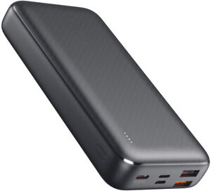20000mAh Power Bank with 18W PD, Large-Capacity USB C Portable Charger 3 Outputs