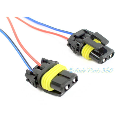 2X 9005 9006 HB3 HB4 DRL FOG LIGHT FEMALE EXTENSION CONNECTOR PRE-WIRED HARNESS