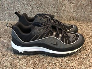 competitive price 3c3a4 de4c8 Image is loading NIKE-AIR-MAX-98-BLACK-ANTHRACITE-3M-GREY-