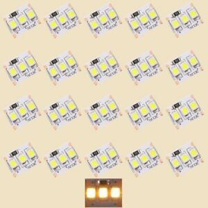 S422-20-Stueck-MINI-LED-Beleuchtung-1-25cm-WARMWEIss-Haeuser-Waggons-RC-Modelle
