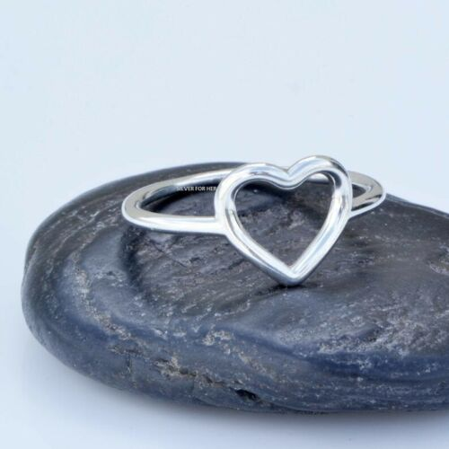 925 Sterling Silver Yoga Ring Boho Rustic Heart Ring Love Jewelry Wholesale