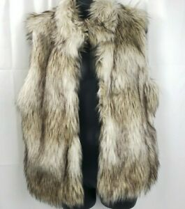 New-Ci-Sono-by-Cavalini-Women-s-Vest-Size-Large-Faux-Fur-w-Tags-CiSono