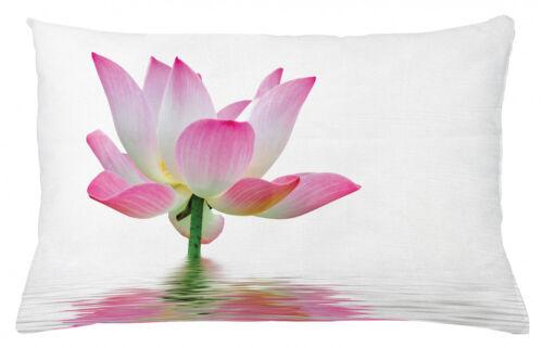 Rose et Blanc Taie d/'oreiller Lotus dans l/'eau farbfest Lavable