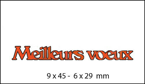 French Words Wishes Metal Cutting Dies Scrapbooking Album Embossing Card Making