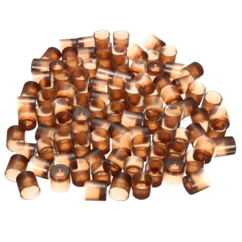 100 Pcs THICK Brown Beekeepers Bee Queen Royal Beekeeping Raise Rearing Cell C