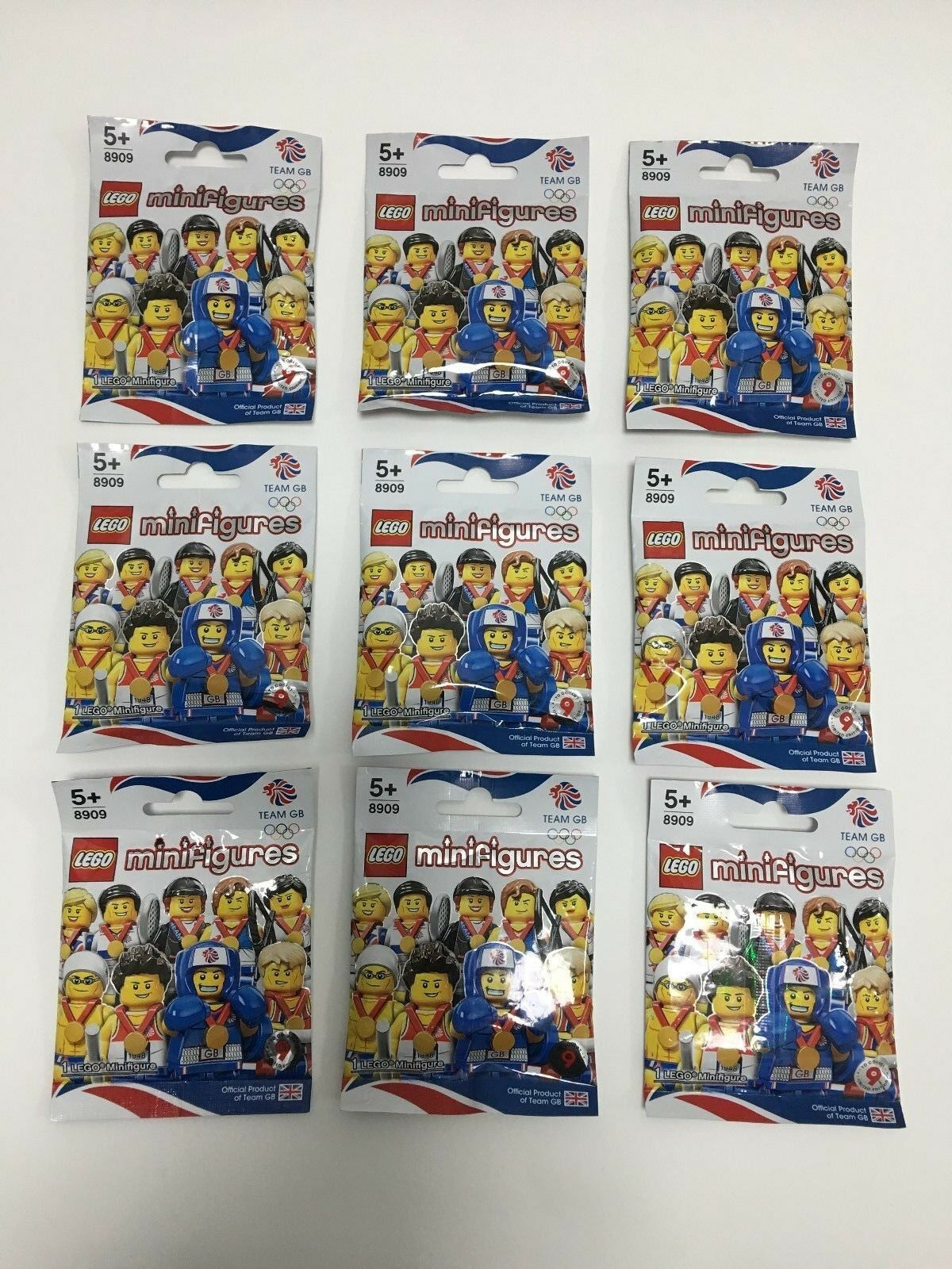 LEGO Minifigures Team GB Olympic Minifigure - 8909 - All Brand New & Unopened