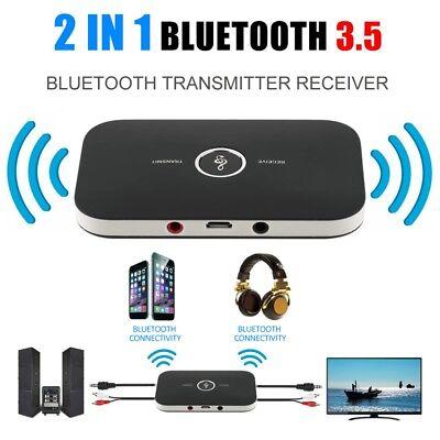 Intelligente 2 En 1 Hifi Sans Fil Bluetooth Audio Émetteur Récepteur 3.5mm Rca Stereo Tv Mp3 2019 Ultima Vendita Online Stile 50%
