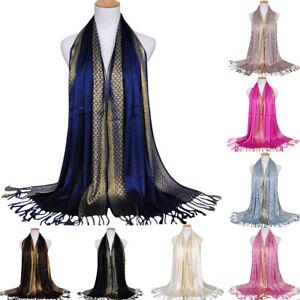 Women-Glitter-Cotton-Tassel-Long-Hijab-Shawl-Luxury-Scarf-Scarves-Stole-Wrap