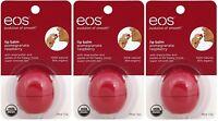 3 Pack Eos Evolution Smooth Pomegranate Raspberry Lip Balm Original Usa 0.25 Oz on sale