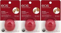 3 Pack Eos Evolution Smooth Pomegranate Raspberry Lip Balm Original Usa 0.25 Oz on sale