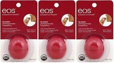 3 Pack EOS Evolution Smooth Pomegranate Raspberry Lip Balm Original USA 0.25 oz