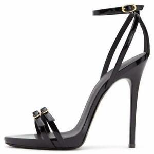 Women-Lady-Open-Toe-High-Heels-Stilettos-Sandals-Ankle-Strap-Shoes-Plus-Size