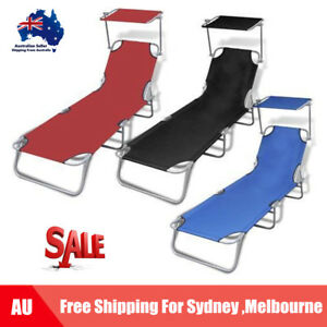 Image Is Loading Outdoor Foldable Sun Lounger Bed Reclining Beach Chair