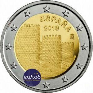 2-euros-commemorative-ESPAGNE-2019-Avila-et-ses-eglises-extra-muros-UNESCO