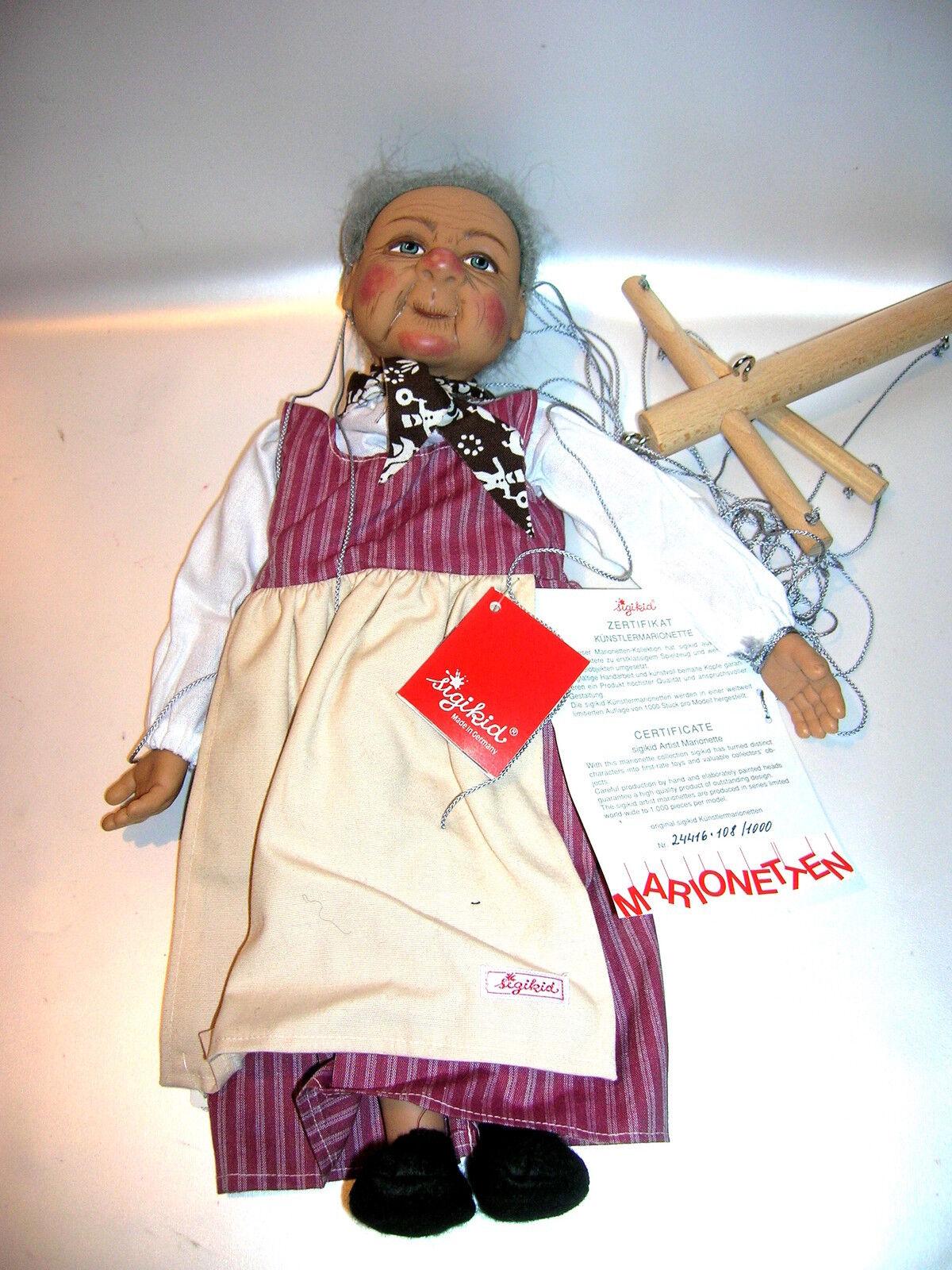 À la la À fin de l'année, je re erai à l'événeHommes t. Sigikid artistes marionnette mamie de Gabriele Brill limitée 108/1000 f9d605