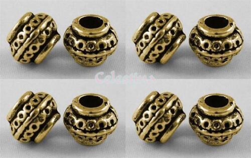 LF CF NF Ornate Design 8mm 20 x Antique Gold Spacer Beads Rondelles