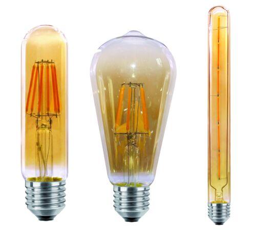 E27 6W 8W LED Warmweiß Glühbirne Kolben Stabform Edison Retro Lampe Leuchtmittel