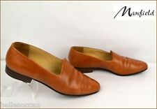 Chaussures MANFIELD Taille 39 ½  Cuir Marron Fauve !