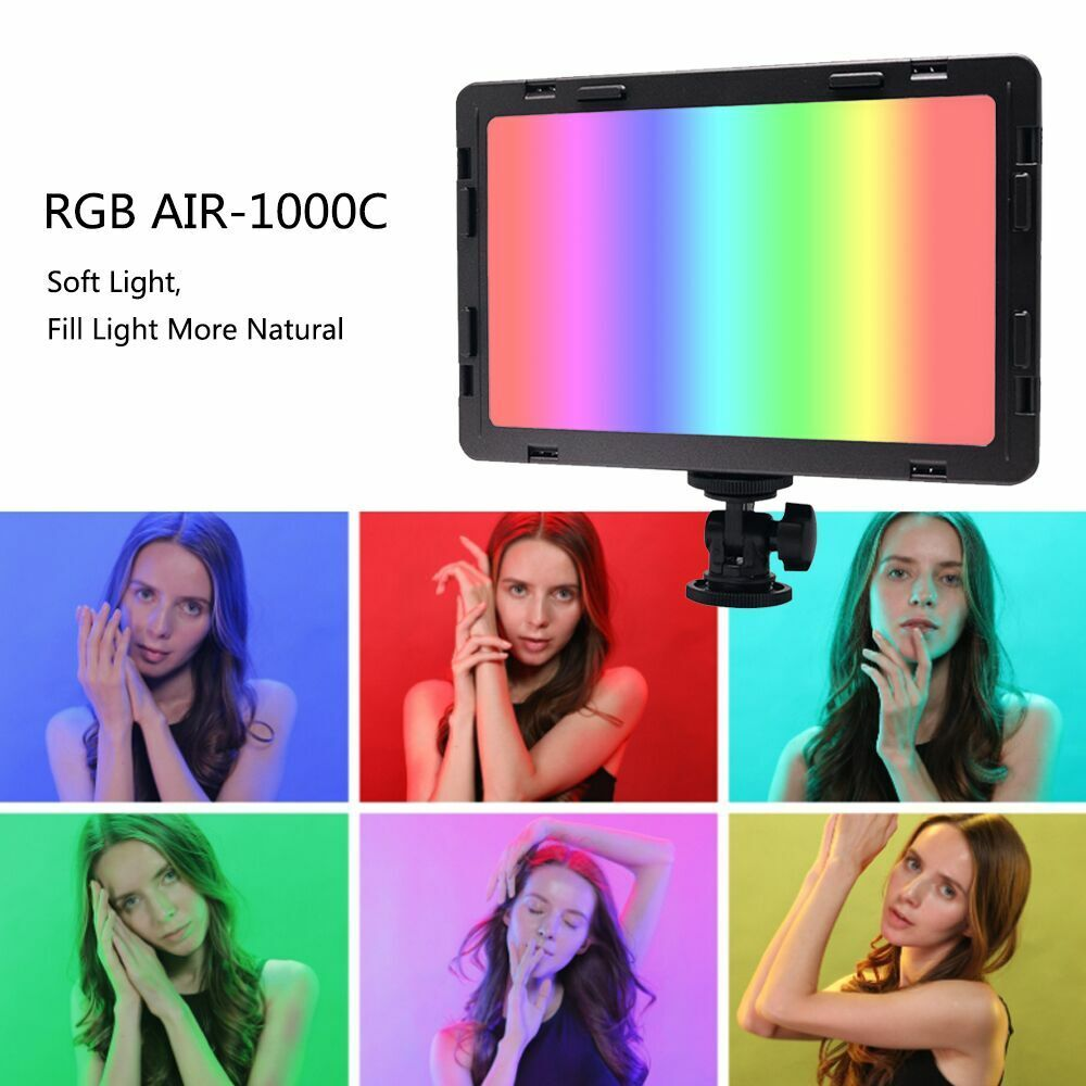 Mcoplus Air1000C RGB LED Video Light360 Colors for DSLR Cameras and camcorder