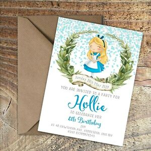 BIRTHDAY-INVITATIONS-Alice-in-Wonderland-Personalised-Any-Age-PK-10