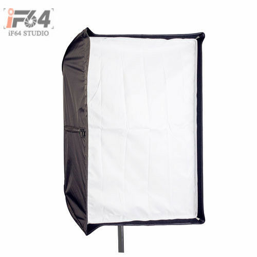 Photo Studio 80 x 120cm Rectangle Umbrella Softbox Dual-use For SpeedLight Flash