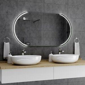 Details zu KAIR Badspiegel mit LED Beleuchtung Wandspiegel  Badezimmerspiegel nach Maß A01