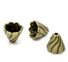 Perlkappen tapas beads perlas de latón filigrana 12x13 mm 4 X de bacatus