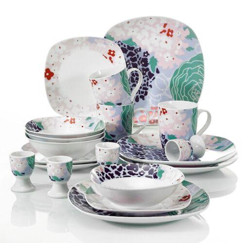 20-Piece Dinner Set Porcelain Crockery Dining Service Dinnerware 4 Place Setting