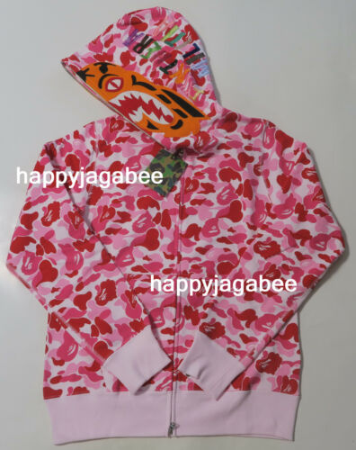 A BATHING APE Men/'s ABC CAMO TIGER FULL ZIP HOODIE 3colors From Japan New