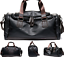thumbnail 8 - New Leather Vintage Cross Body Shoulder Duffel Gym Sports Overnight Travel Bag