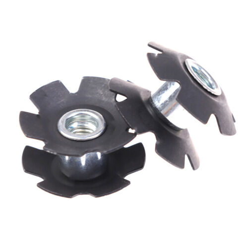 """2PCS Bicycle Front Fork Mount Core Fastening Bolts Star Nuts for 1-1//8/"""" 28.6mmBH"""