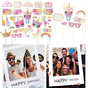 30x-Unicorn-Happy-Birthday-Photo-Frame-Booth-Props-Wedding-Party-Photography-UK