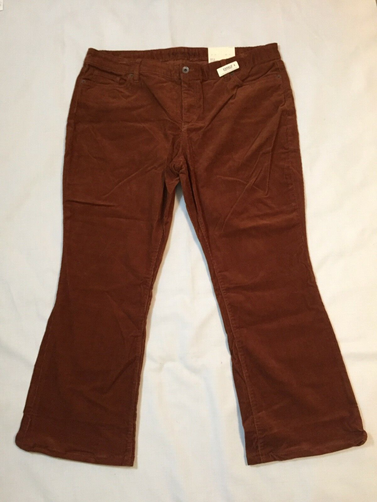 Lands' End Women's Mid Rise BootLeg Corduroy Pants Size 18P New with Tags