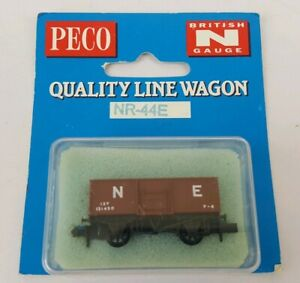 Peco-N-Gauge-NR-44E-Butterley-Type-Open-Wagon-in-North-Eastern-Brown