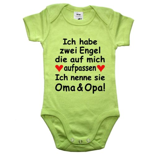 Frei wählbar Baby Strampler Body Engel sind Papa Mama Oma Opa Onkel Tante