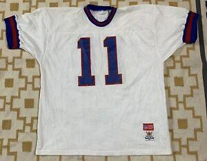 VTG-Sand-Knit-New-York-Giants-Phil-Simms-NFL-Pro-Cut-Jersey-Men-039-s-SZ-XL-White