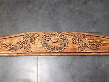 GRAND FRONTON ANCIEN  EN BOIS SCULPTE D'UNE COQUILLE  LONG 105 CM    F324