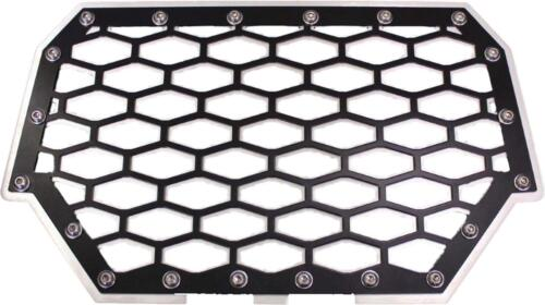 RZR-FG2-BLK BLACK//SILVER MODQUAD 2-PANEL FRONT GRILL